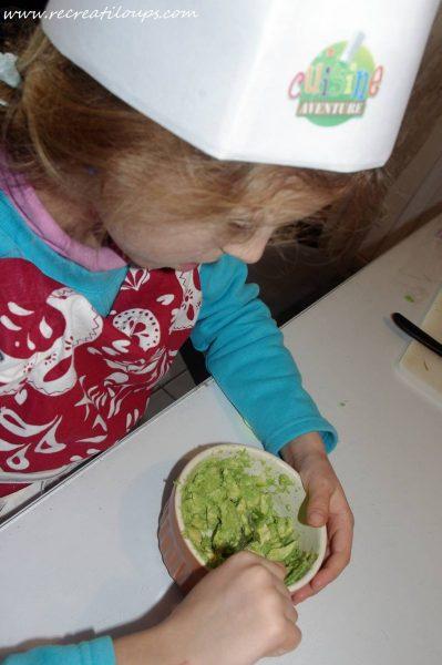 Préparation du guacamole