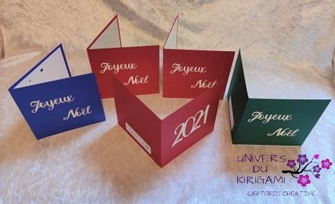 Cartes de voeux en kirigami